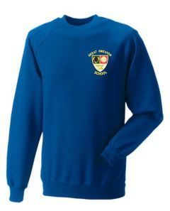Royal Blue Sweatshirt - Embroidered with Great Smeaton Academy Primary School Logo