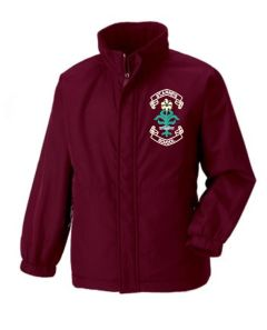 Burgundy Reversible School Jacket - Embroidered with St. Anne's C.E.PS (Bishop Auckland) Logo
