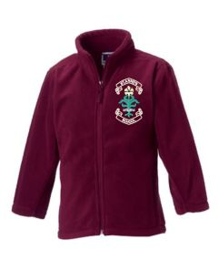 Burgundy Fleece - Embroidered with St. Anne's C.E.PS (Bishop Auckland) Logo