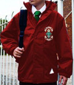 Burgundy Stormproof Coat - Embroidered with St. Anne's C.E.PS (Bishop Auckland) Logo