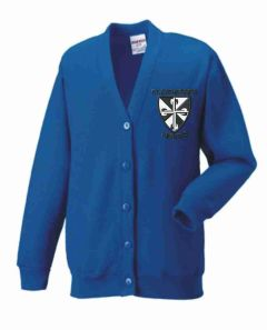 Royal Sweat Cardigan- Embroidered with St Catherine's RC Primary School logo