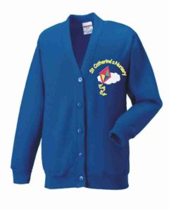 Royal Sweat Cardigan- Embroidered with St Catherine's RC Nursery logo