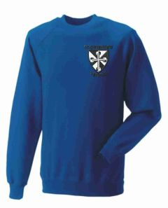 Royal Sweatshirt - Embroidered with St Catherine's RC Primary School logo