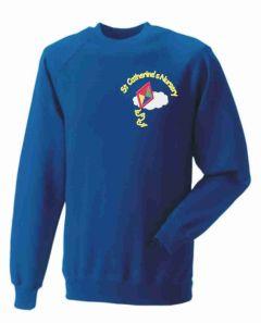 Royal Sweatshirt - Embroidered with St Catherine's RC Nursery logo