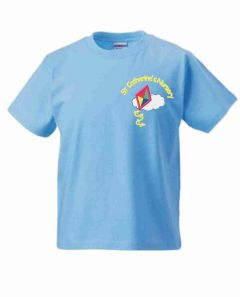 Sky Blue PE T-Shirt - Embroidered with St Catherine's Nursery logo