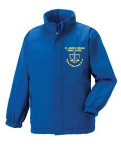 Royal Reversible Jacket - Embroidered with St Josephs Primary School (Stanley) Logo