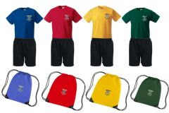 PE KIT (T-shirt, Shorts & PE Bag) - Embroidered with St Joseph's Primary School Logo (Stanley)