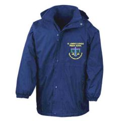 Royal Result Stormproof Coat - Embroidered with St Joseph's Primary School (Stanley) logo