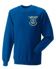 Royal Sweatshirt - Embroidered with St Joseph's Primary School (Stanley)