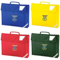 Red, Royal, Yellow or Bottle Green Bookbag - Embroidered with School logo
