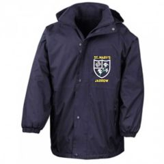 Navy Result Stormproof Coat - Embroidered with St Mary's (Jarrow) Primary School