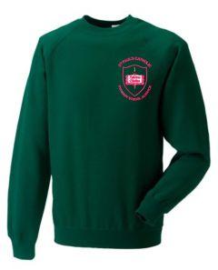 Forest Crew-neck Sweatshirt - Embroidered with St Paul's Catholic Primary School Logo (Alnwick)