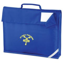 Royal Book Bag - Embroidered with St Pius R.C. Primary School Logo