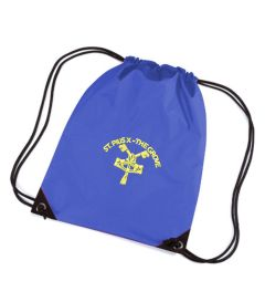 Royal PE Bag - Embroidered with St Pius R.C. Primary School Logo