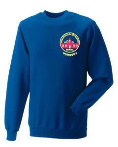 *NURSERY* Royal Sweatshirt - Embroidered with Wallsend Jubilee Primary School logo