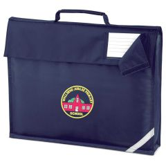 Navy Bookbag - Embroidered with Wallsend Jubilee Primary School logo