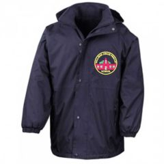 Navy Result Stormproof Coat - Embroidered with Wallsend Jubilee Primary School logo