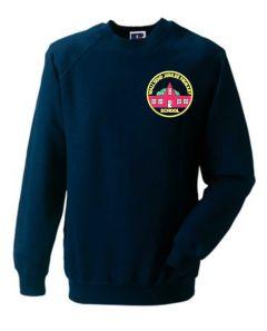 Navy Sweatshirt - Embroidered with Wallsend Jubilee Primary School logo