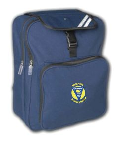 Navy Junior Backpack - Embroidered with Waterville Primary School logo