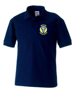 Navy Polo - Embroidered with Waterville Primary School logo