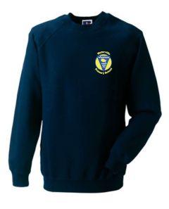 Navy Sweatshirt - Embroidered with Waterville Primary School logo