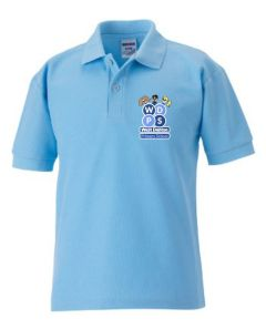Sky Polo - Embroidered with West Denton Primary School logo