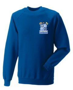 Royal Sweatshirt - Embroidered with West Denton Primary School logo