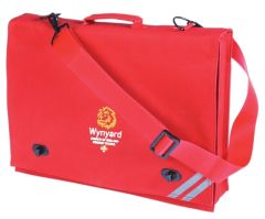 Red Document Case - Embroidered with Wynyard C of E Primary School logo