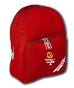 Red Infant Backpack - Embroidered with Wynyard C of E Primary School logo