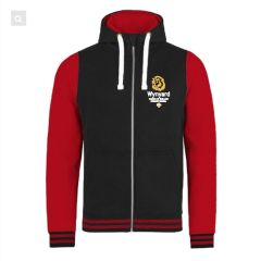 Black/Red Urban Varsity Hoodie - Embroidered with Wynyard C of E Primary School logo