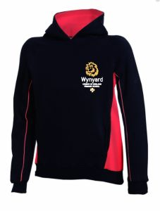 Black/Red Hoodie - Embroidered with Wynyard C of E Primary School logo