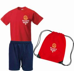 PE KIT (T-shirt, Shorts & PE Bag) - Embroidered with Wynyard C of E Primary School