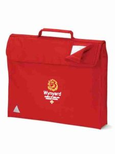 Red Bookbag - Embroidered with Wynyard C of E Primary School logo