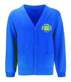 Royal Sweat Cardigan - Embroidered with Yohden Primary School logo