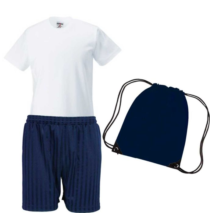 PE KIT (T-shirt, Shorts & PE Bag) - Plain for School - NO LOGO (Waterville  Primary School)